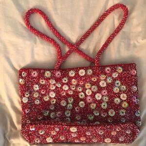 Unique Vintage Beaded Moschino Handbag